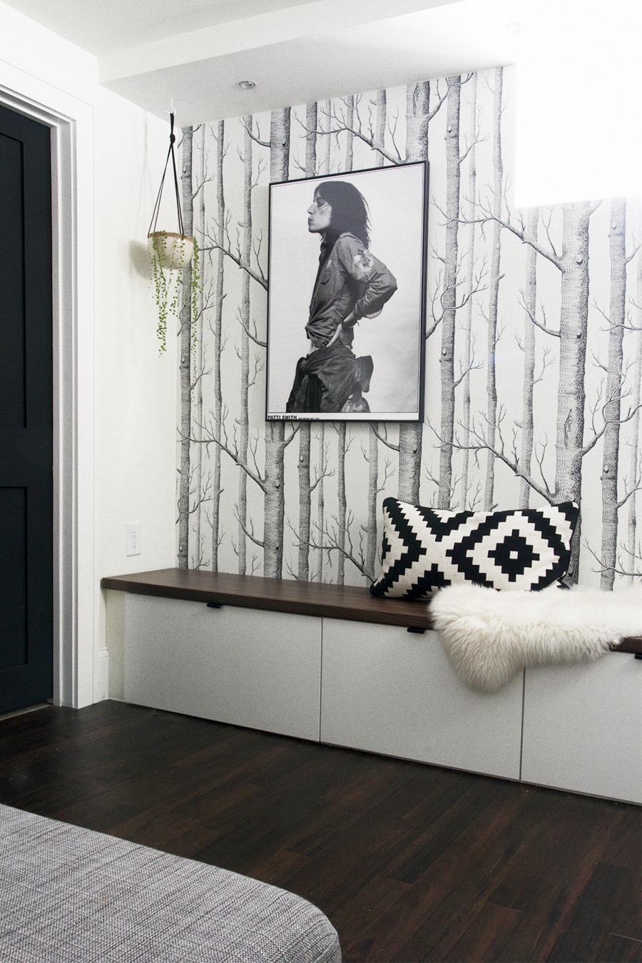 Ikea Cabinets Double as Bench Seating in this Modern Basement Remodel