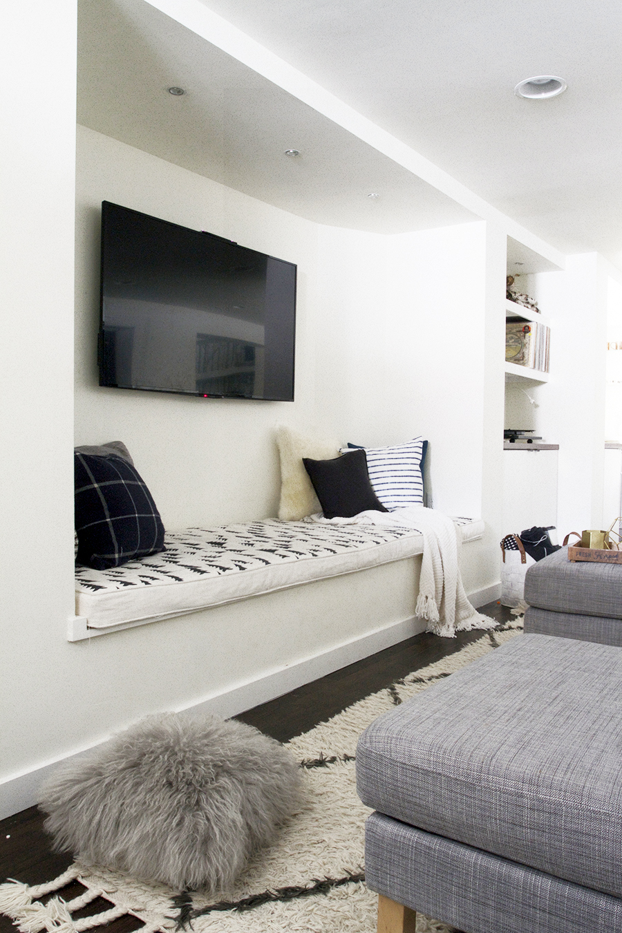 A TV Nook with Bench Seating
