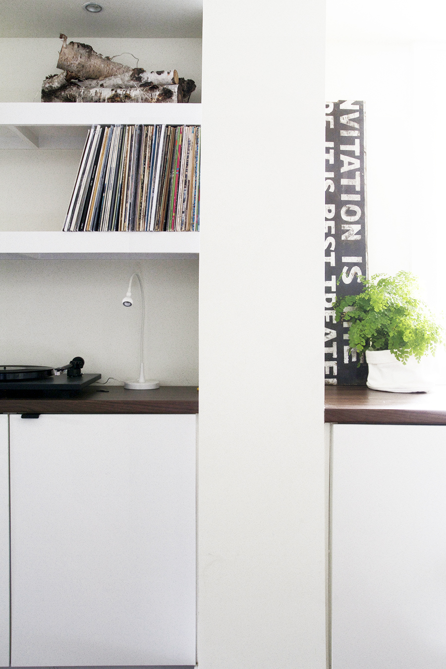 Turntable and Floating Record Storage