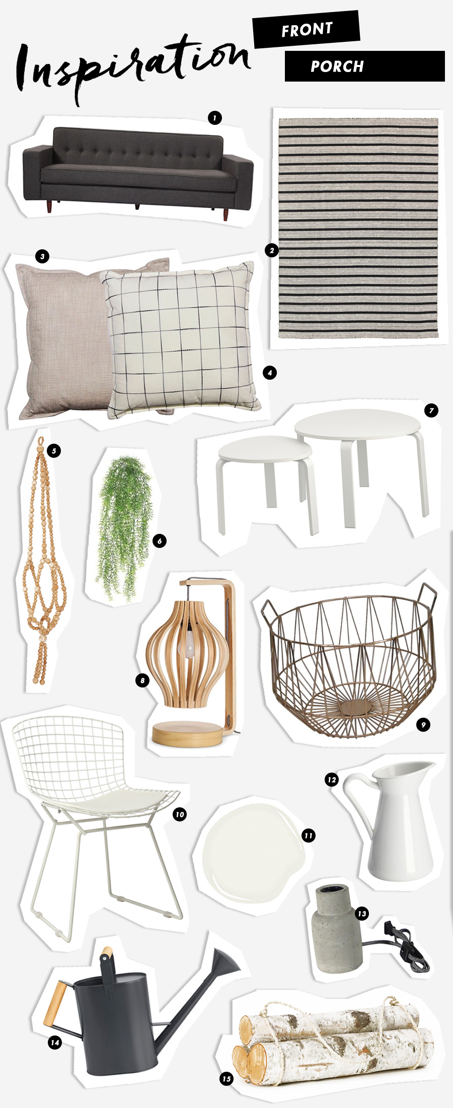 Grey & Blush Inspiration for the Front Porch