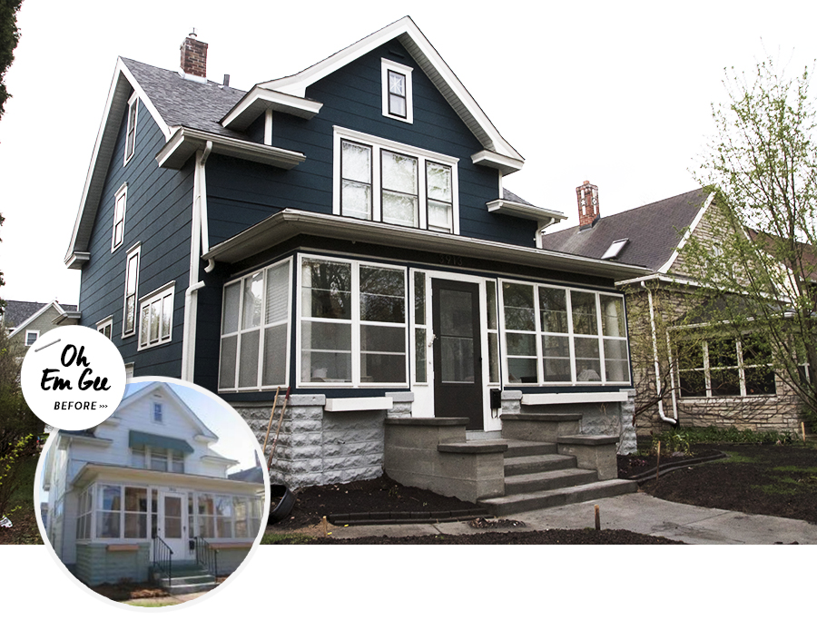 Deuce Cities Henhouse   Curb Appeal Before & After
