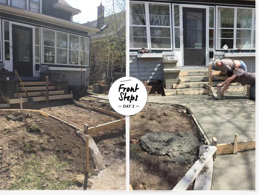 Deuce Cities Henhouse | Front Steps Progress