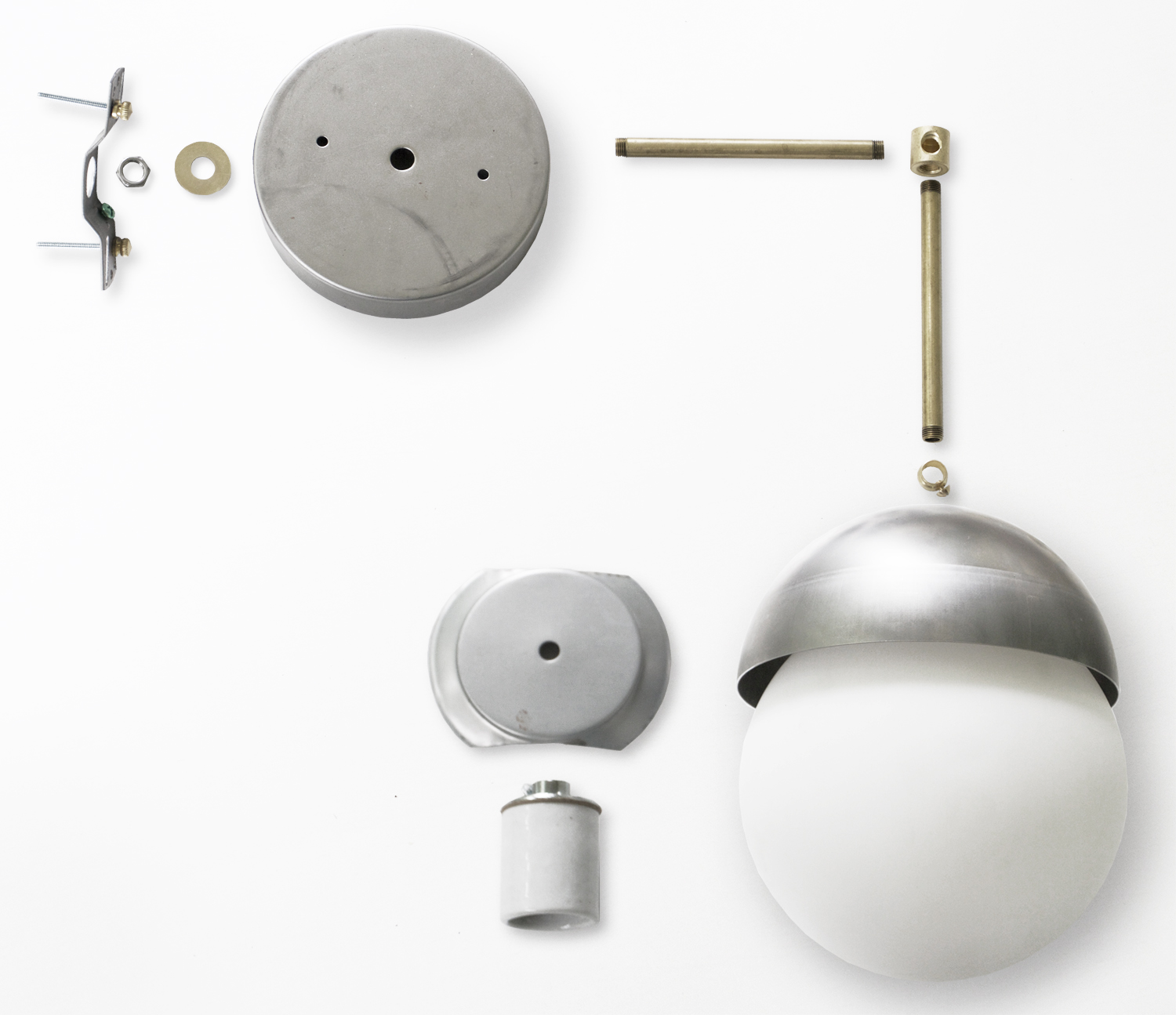 Instructions and Parts list for minimalist DIY Brass & Black Globe Light Fixture