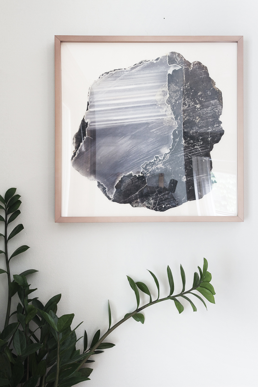Crystal Art Work with Copper Frame