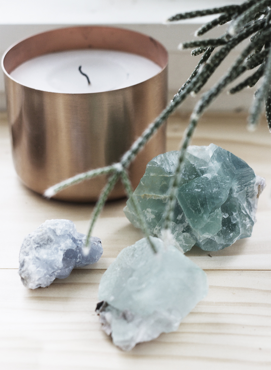 Crystals and Candles for a chill work space