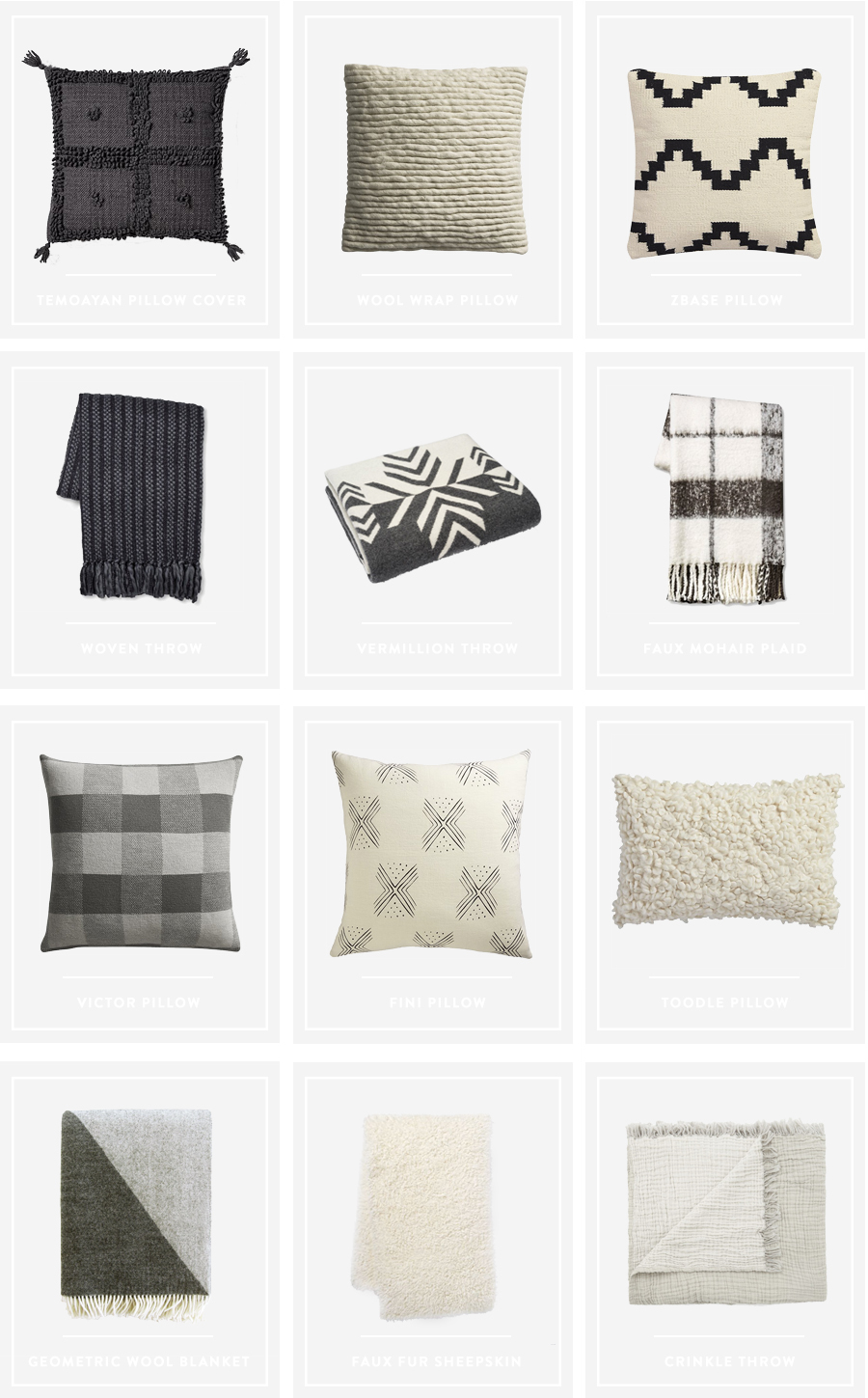 Neutral and Cozy Pillow and Throw Roundup