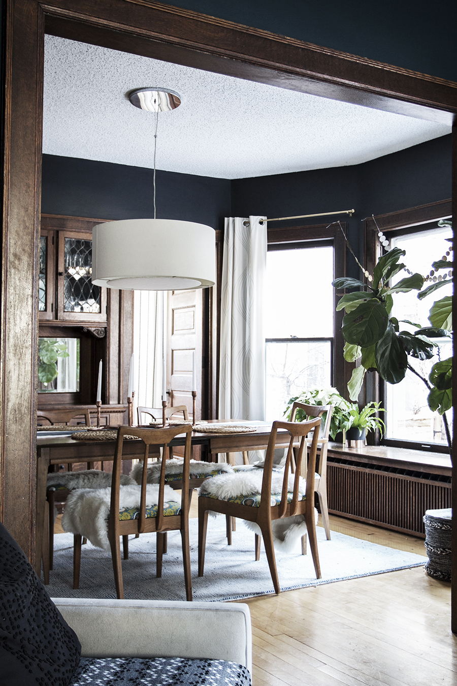 Dark and Modern Dining Room in an Old House | Deuce Cities Henhouse
