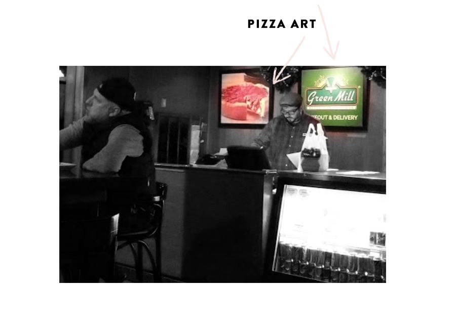 Pizza Print Diptych