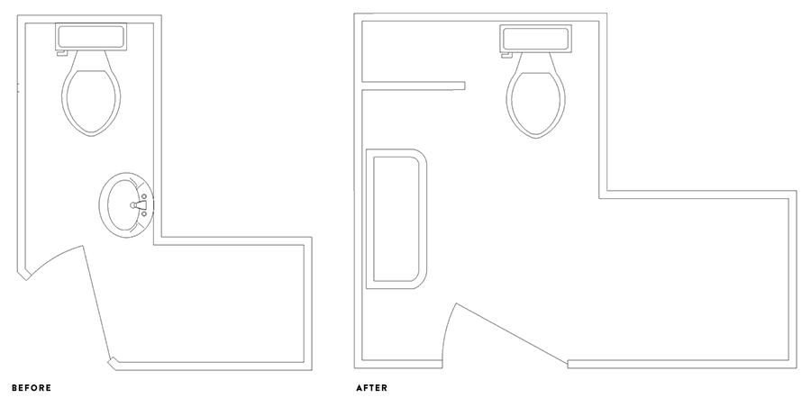 reveal   basement bathroom