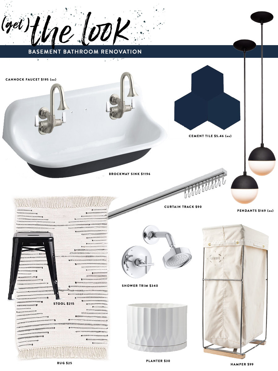 Basement Bathroom Mood Board & Inspiration \ Get the Look