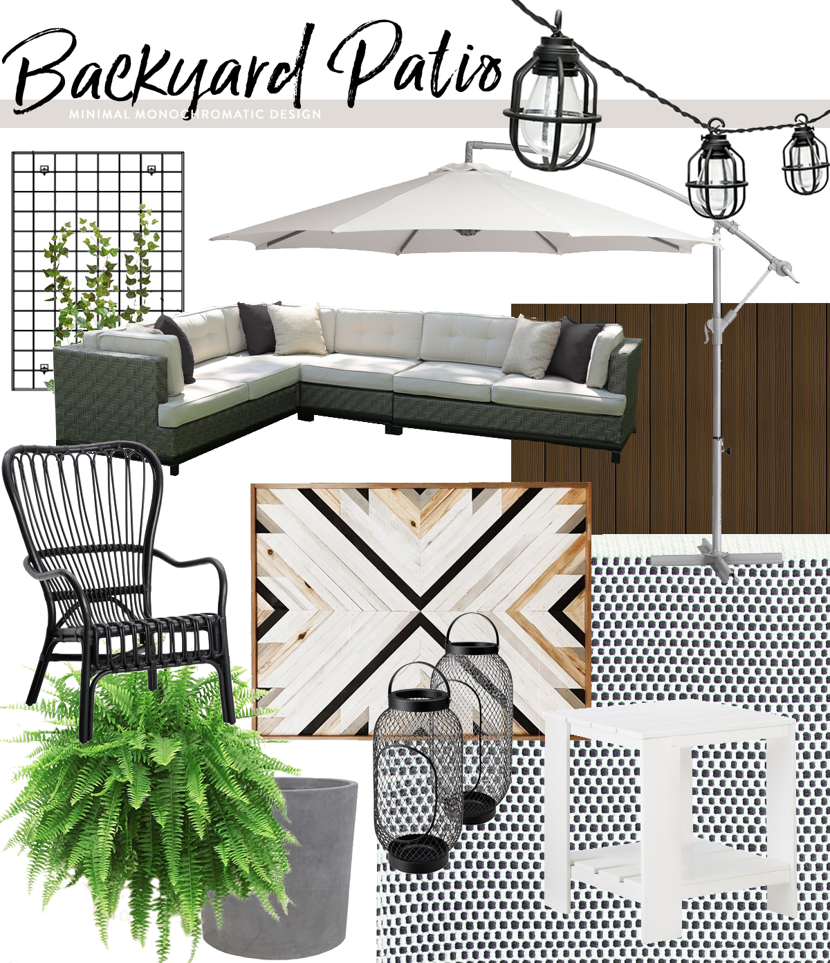 Chic & Modern Backyard Patio | Deuce Cities Henhouse