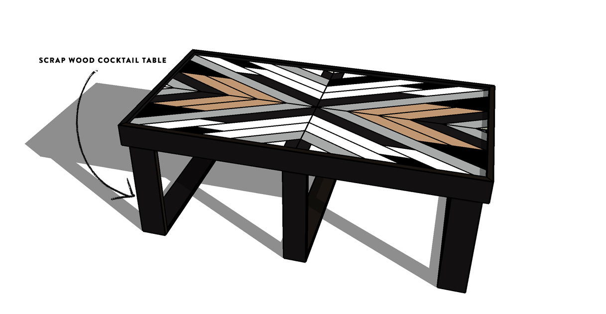 Plans for a geometric cocktail table | Deuce Cities Henhouse