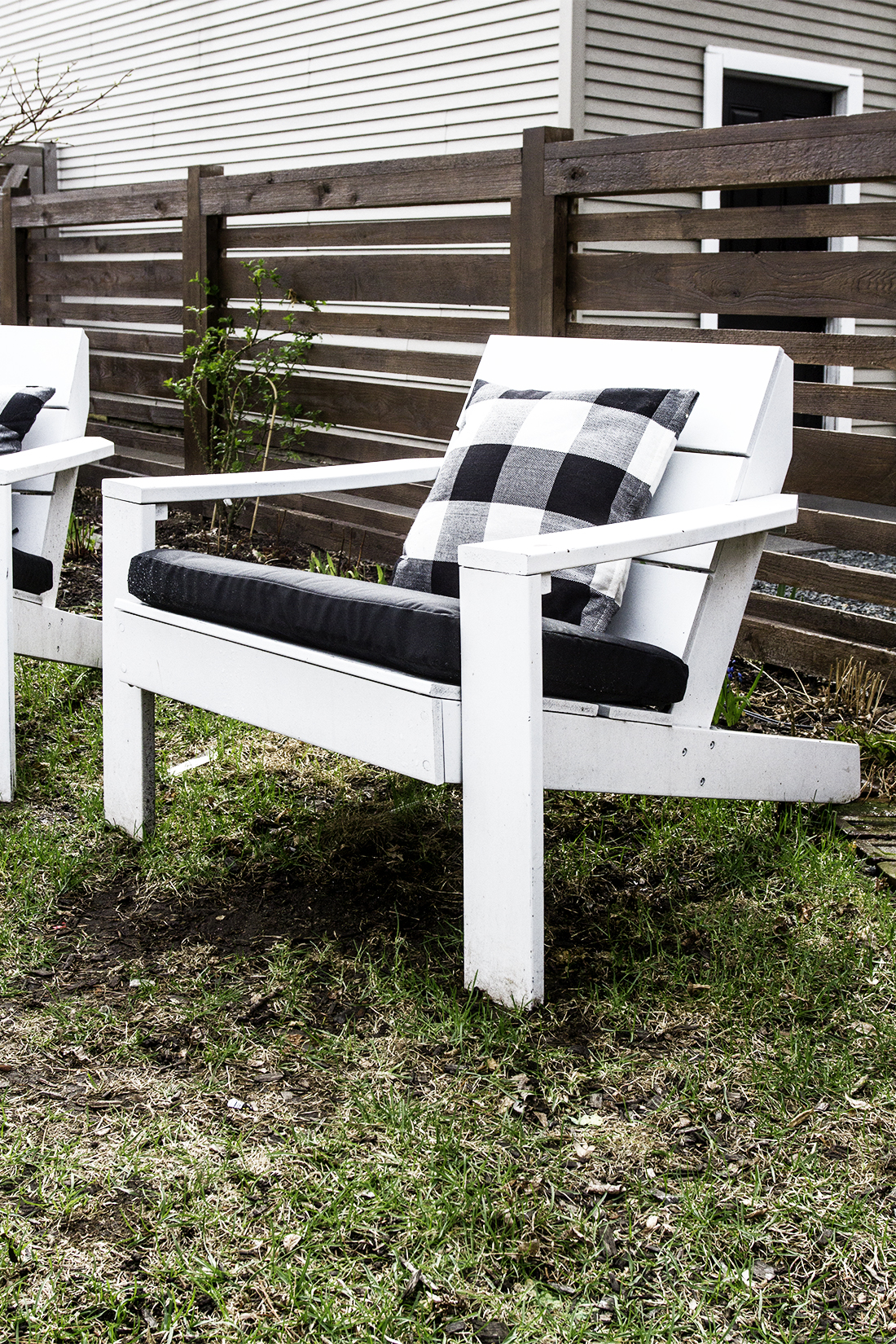 Modern Adirondack Chair with Cushions | Deuce Cities Henhouse