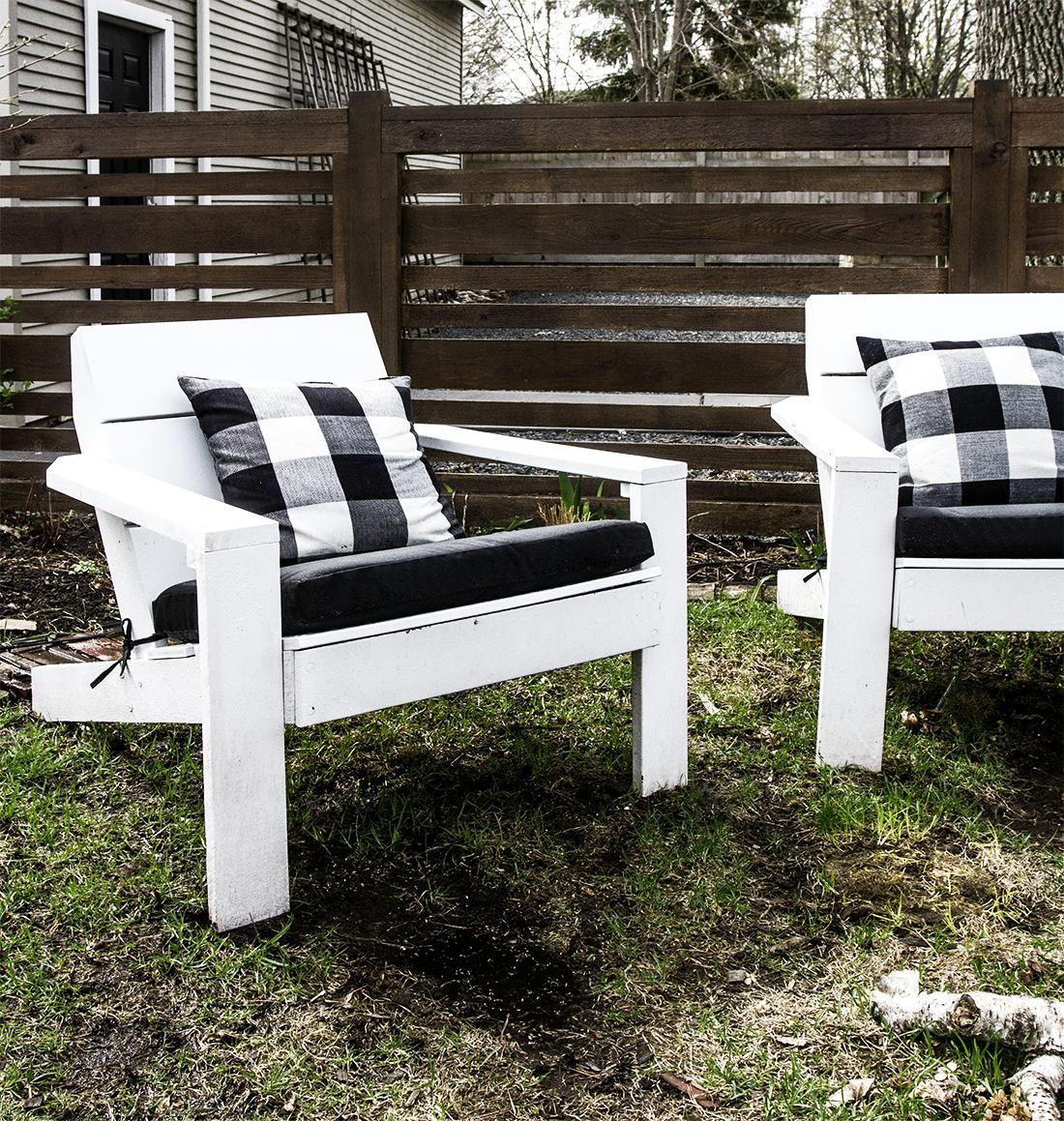 Modern Adirondack Chair with Cushions | Deuce Cities Henhouse