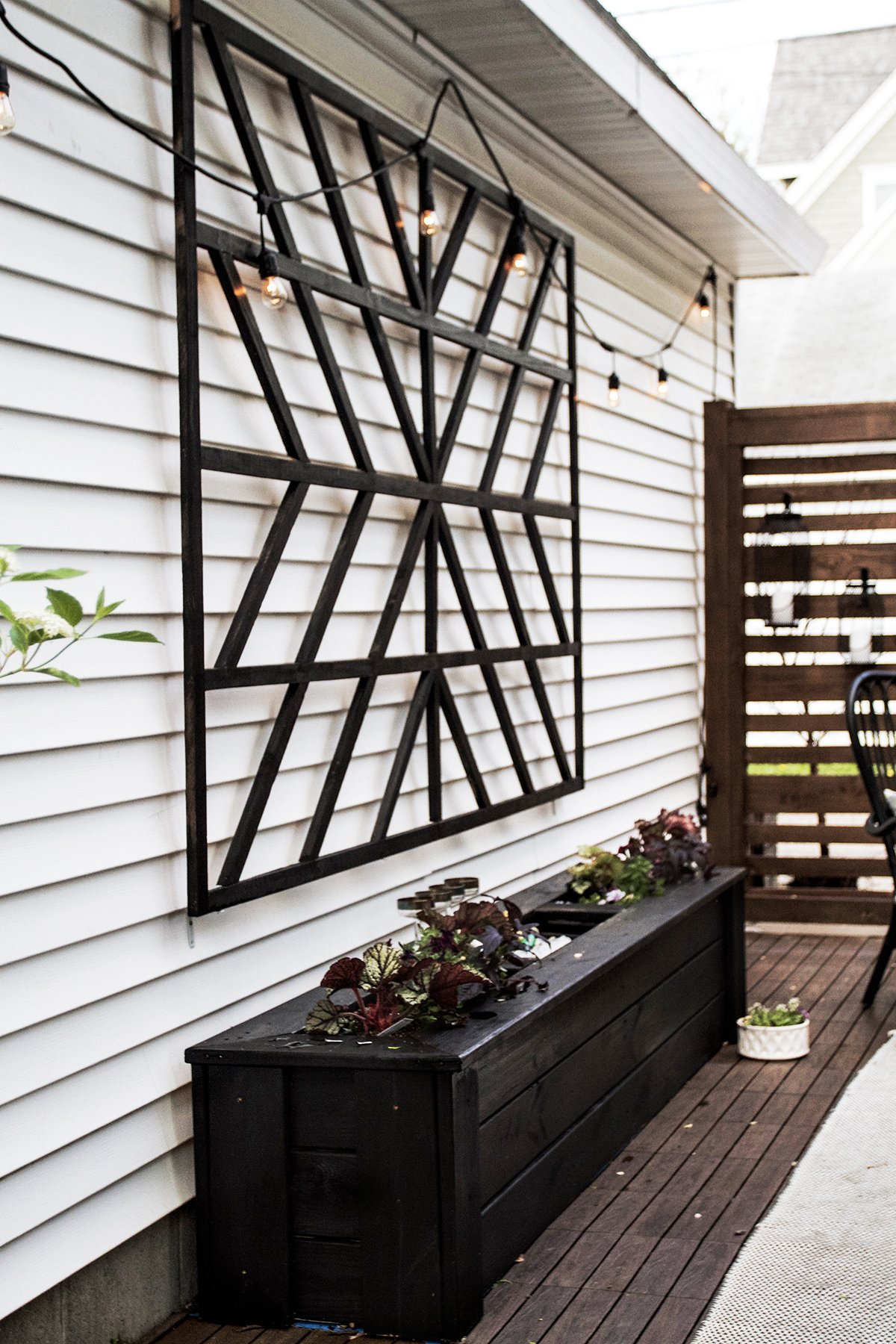 Scandinavian Inspired Patio Transformation with New Tech Wood tiles