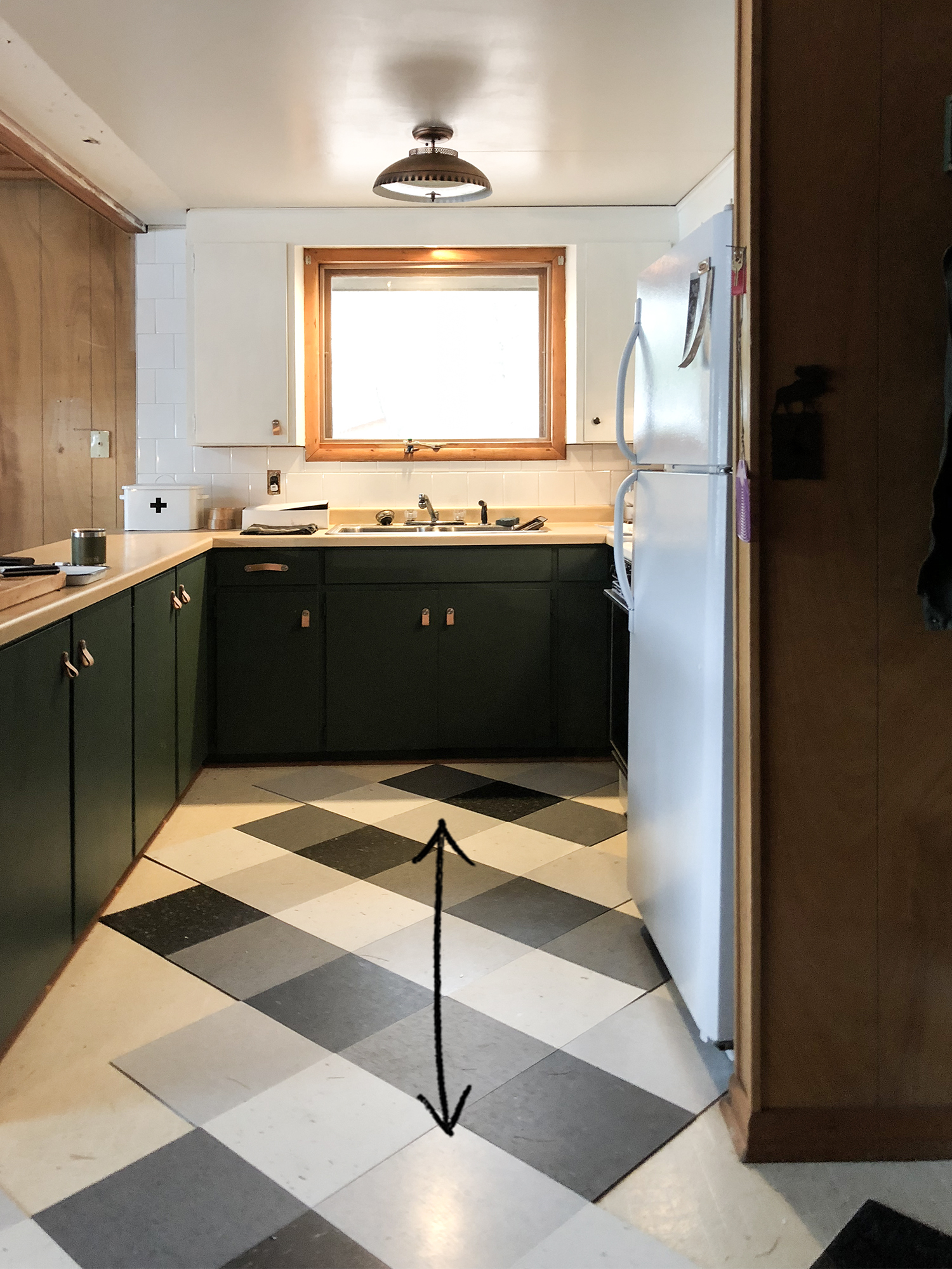 Updating our Vintage Cabin Kitchen // Deuce Cities Henhouse