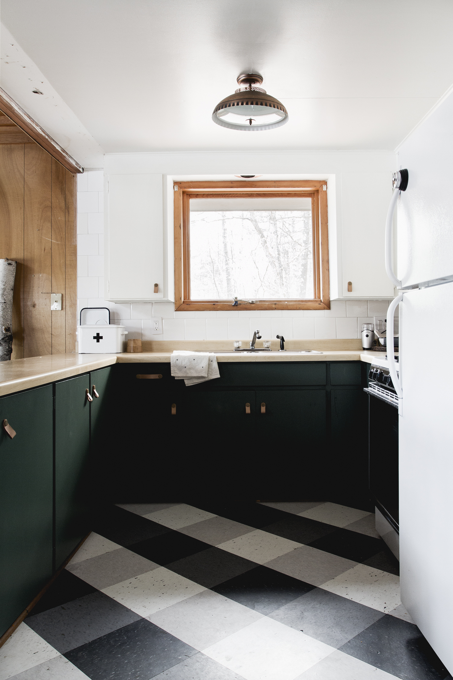 Updating our Vintage Cabin Kitchen // Deuce Cities Henhouse