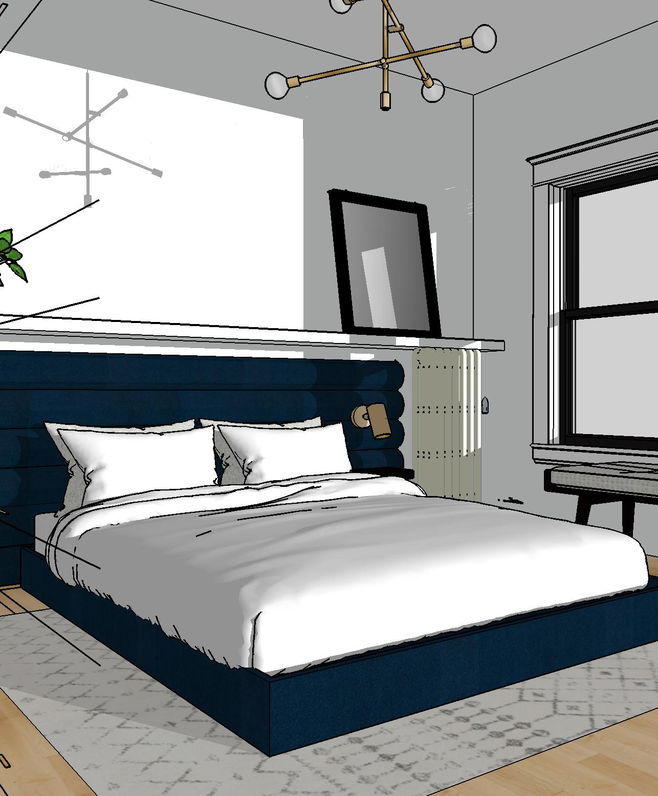 One Room Challenge Week 1 | Brass & Blue in the Guest Bedroom