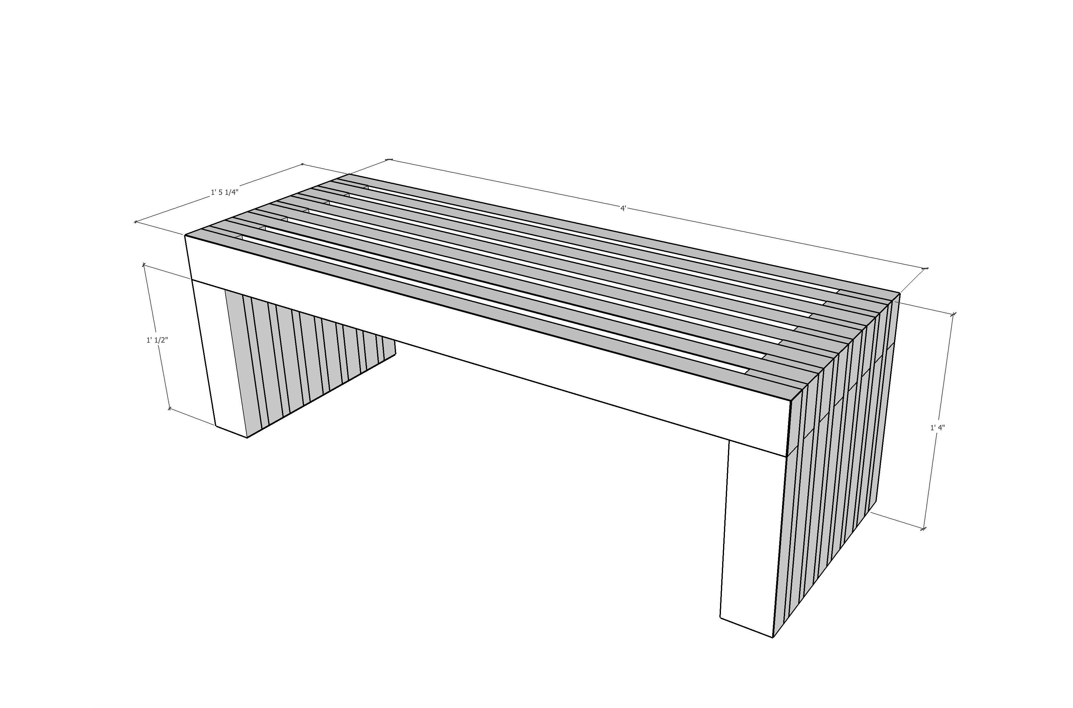 An Easy To Build Outdoor Coffee Table