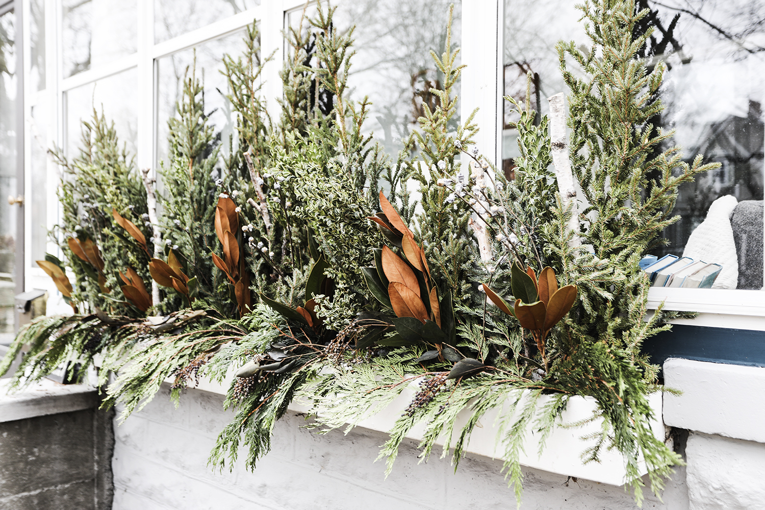 Creating Winter Window Boxes