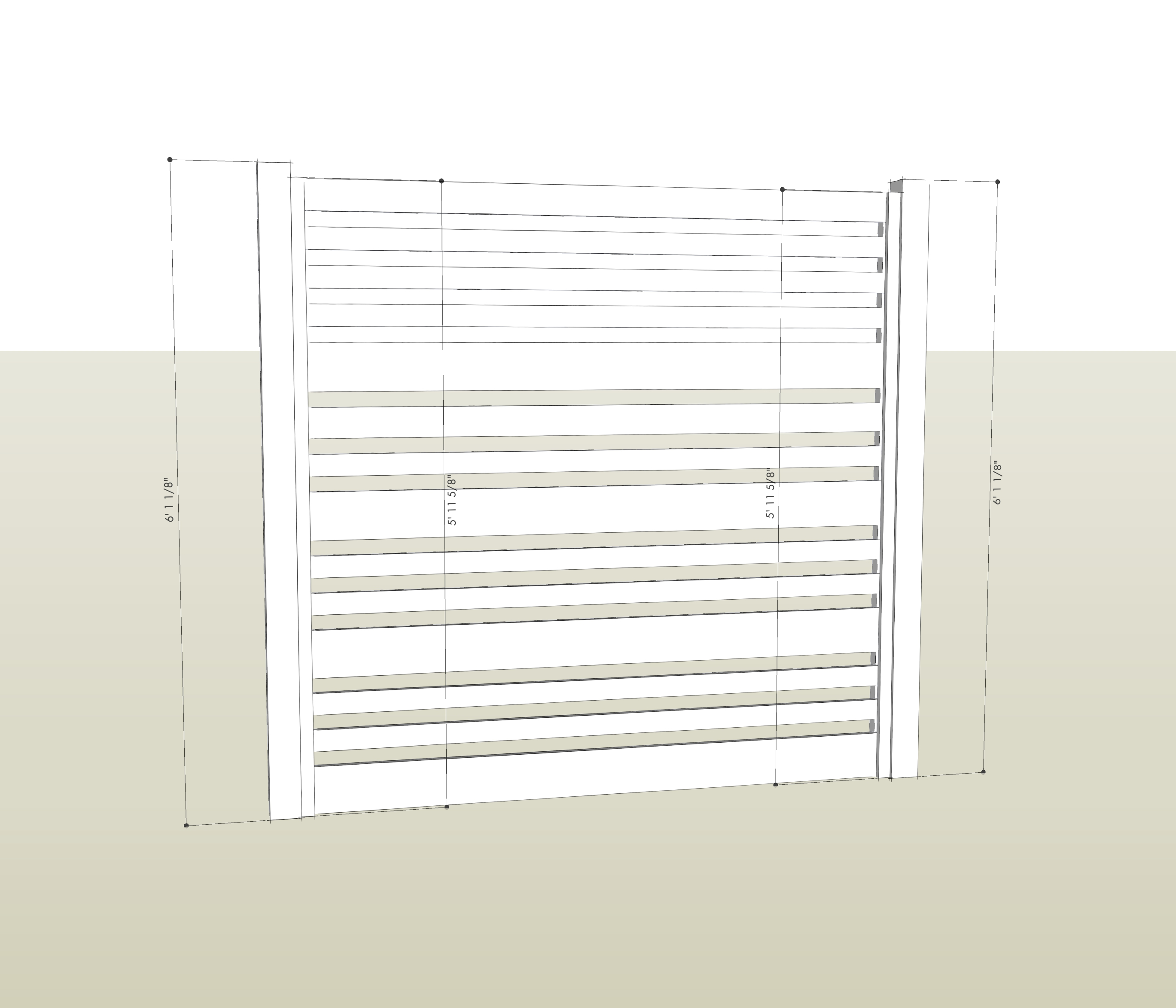 Horizontal Fence with Plans and Dimensions | Deuce Cities Henhouse
