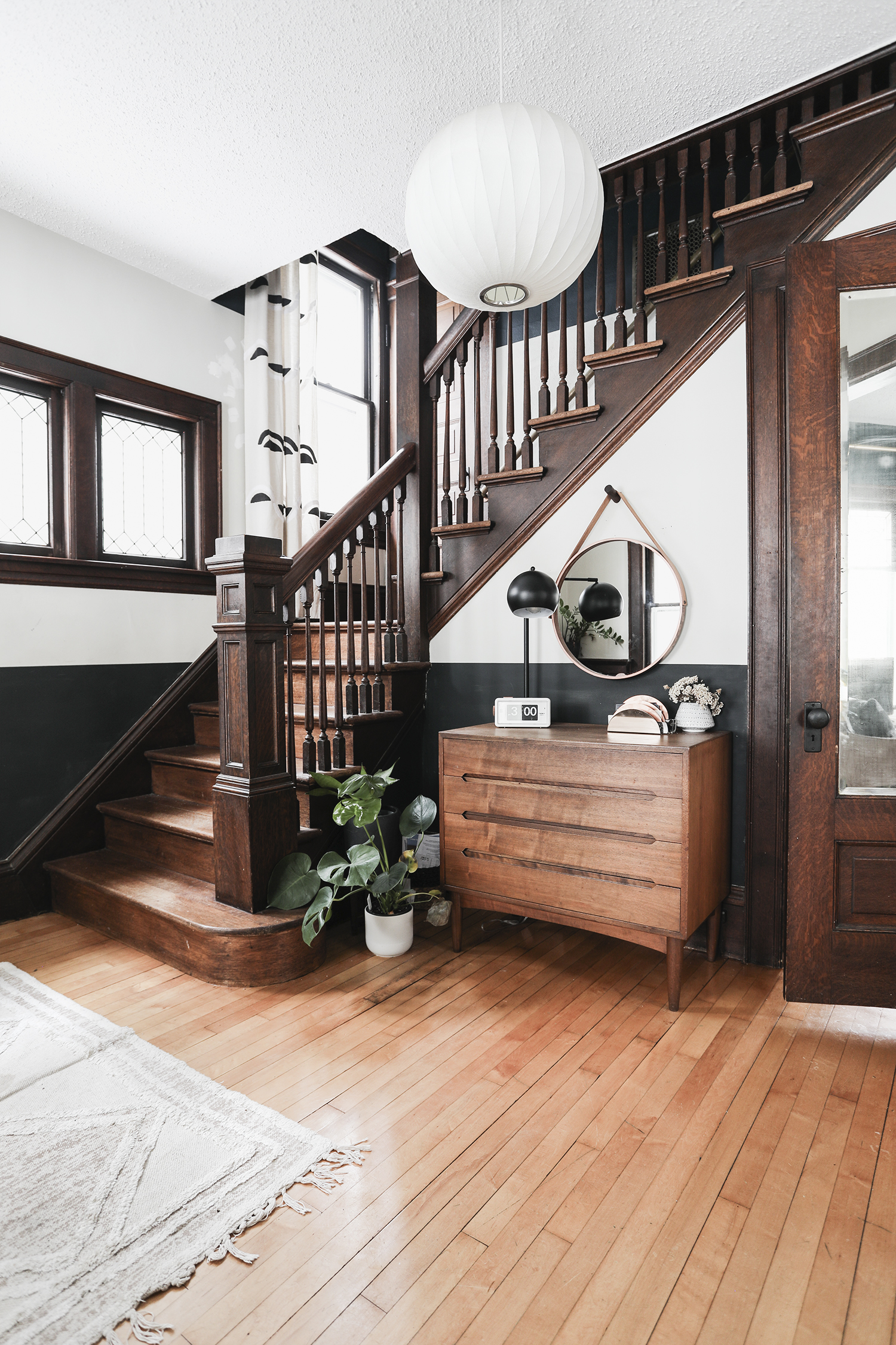 Entry Way, Stairwell and Hallway Reveal