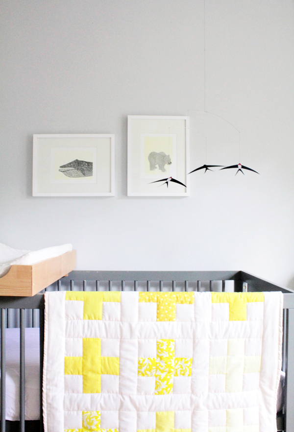 Deuce Cities Henhouse - Gray and Yellow Nursery