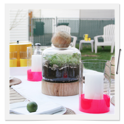 Hot Pink Dipped Candle Sleeve