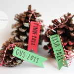 Glitter Pinecone Ornaments