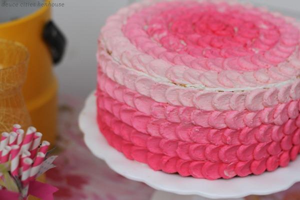 Tutorial : I Made an Ombré Pedal Cake!