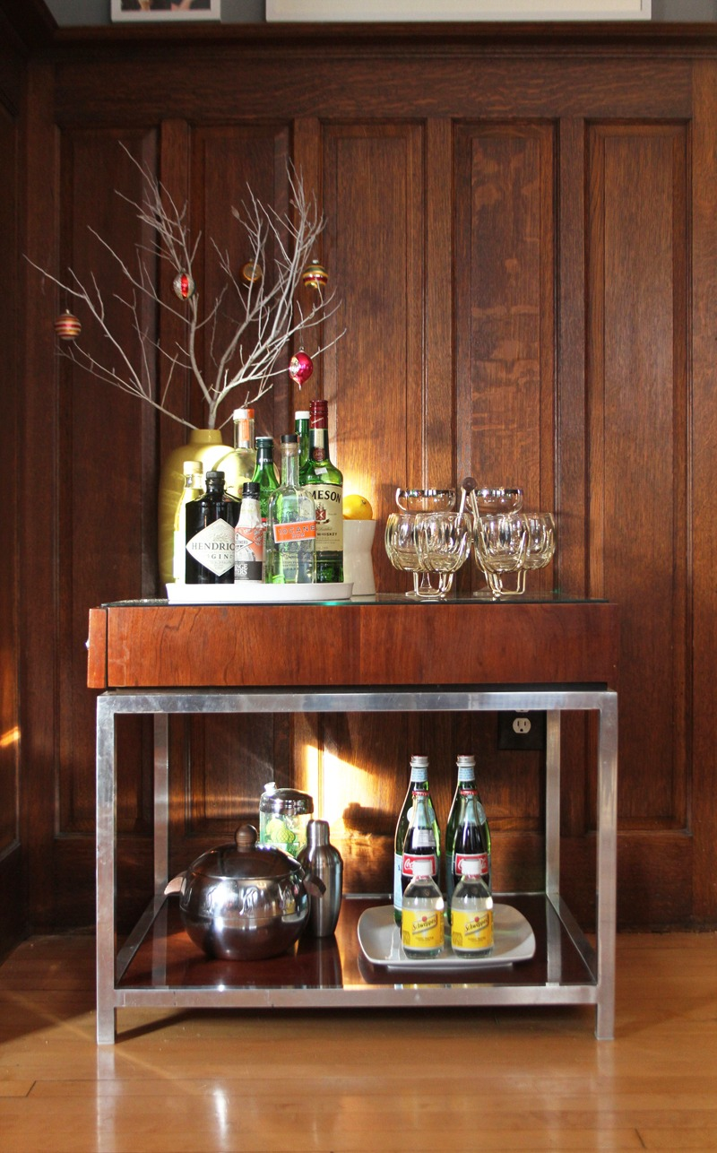 Yeah, You Probably Need a Holiday Bar Cart