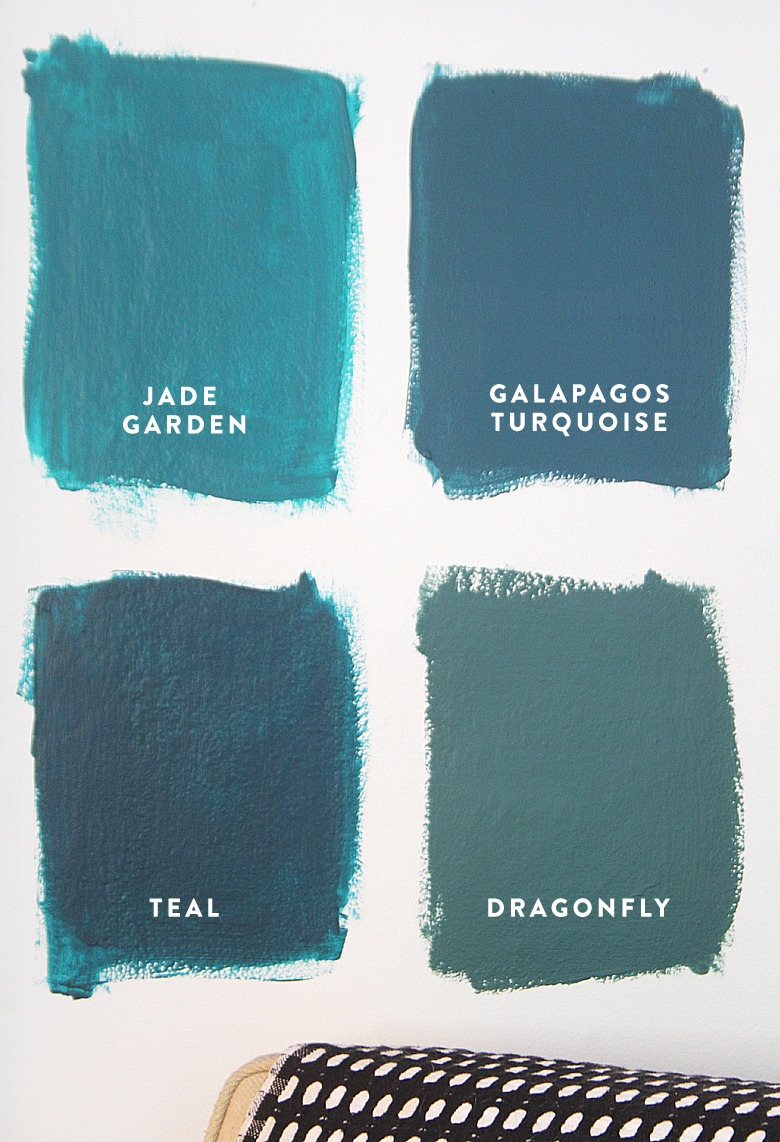 4 Shades of Teal