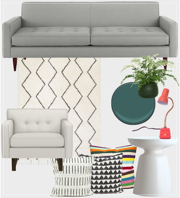 Living Room Style Board