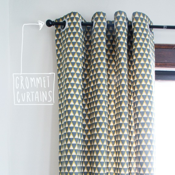 DIY Grommet Curtain Tutorial