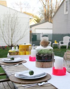 DIY Dipped Candle Sleeves, Stained Terrarium