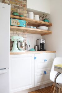 Kitchen Renovation on a Budget with open shelves
