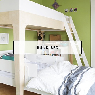 Shared Kids Bedroom with Oeuf Perch Bunkbed