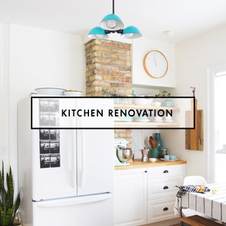 DIY Kitchen Renovation White and Black Subway Tile