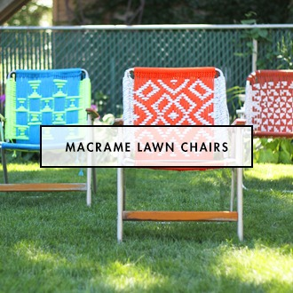 Bright and Colorful Macrame Foldin Lawn Chairs