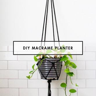 DIY Macrame Modern Planter