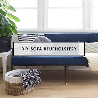 DIT Sofa Box Cushion Reupholstery