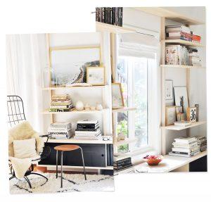 Monochromatic Bookshelf Inspiration