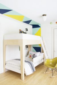 Geometric Color Blocking in the Boys Room