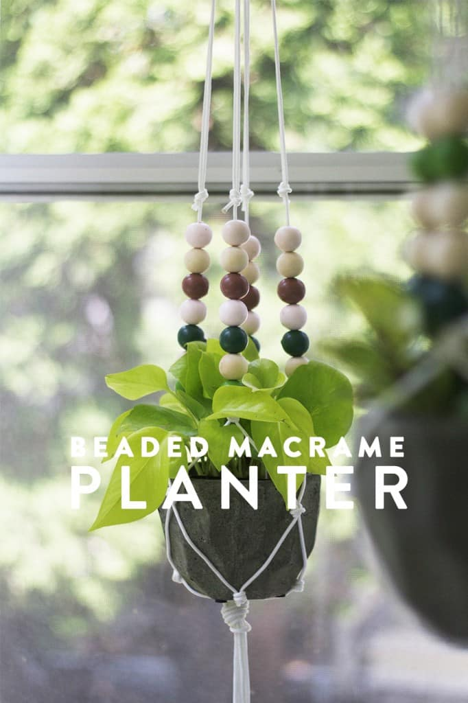 Macrame Beaded Planter Tutorial