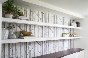 Using Floating Shelves on a long wall