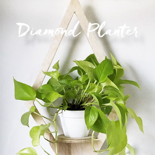 DIY Geometric Scandinavian Planter