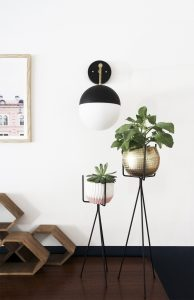 DIY Light Fixture : Brass & Black G...