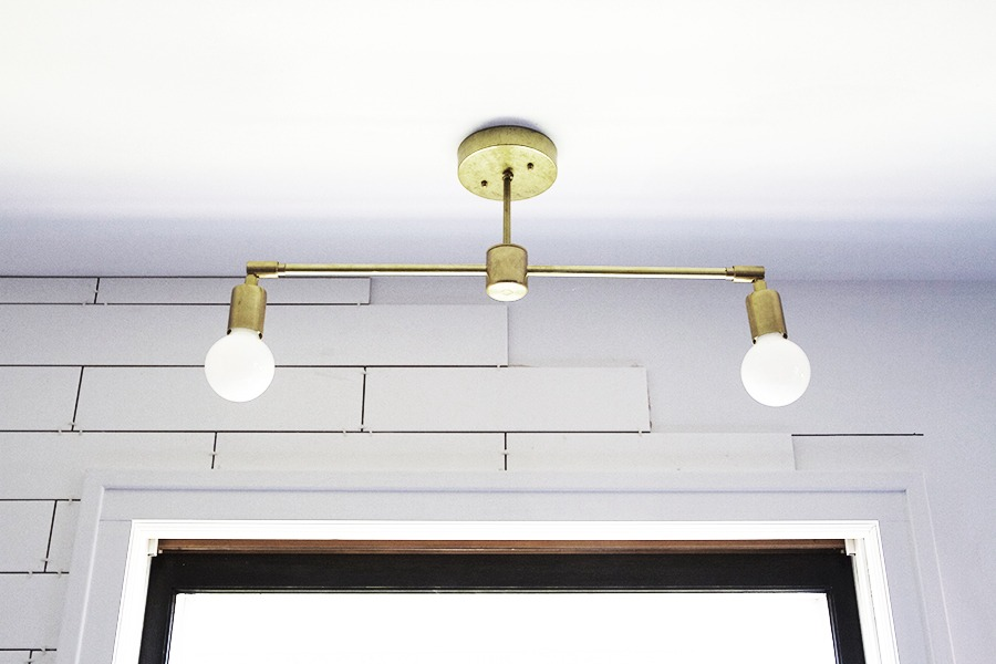 DIY Light Fixture : Double Brass Flush Mount