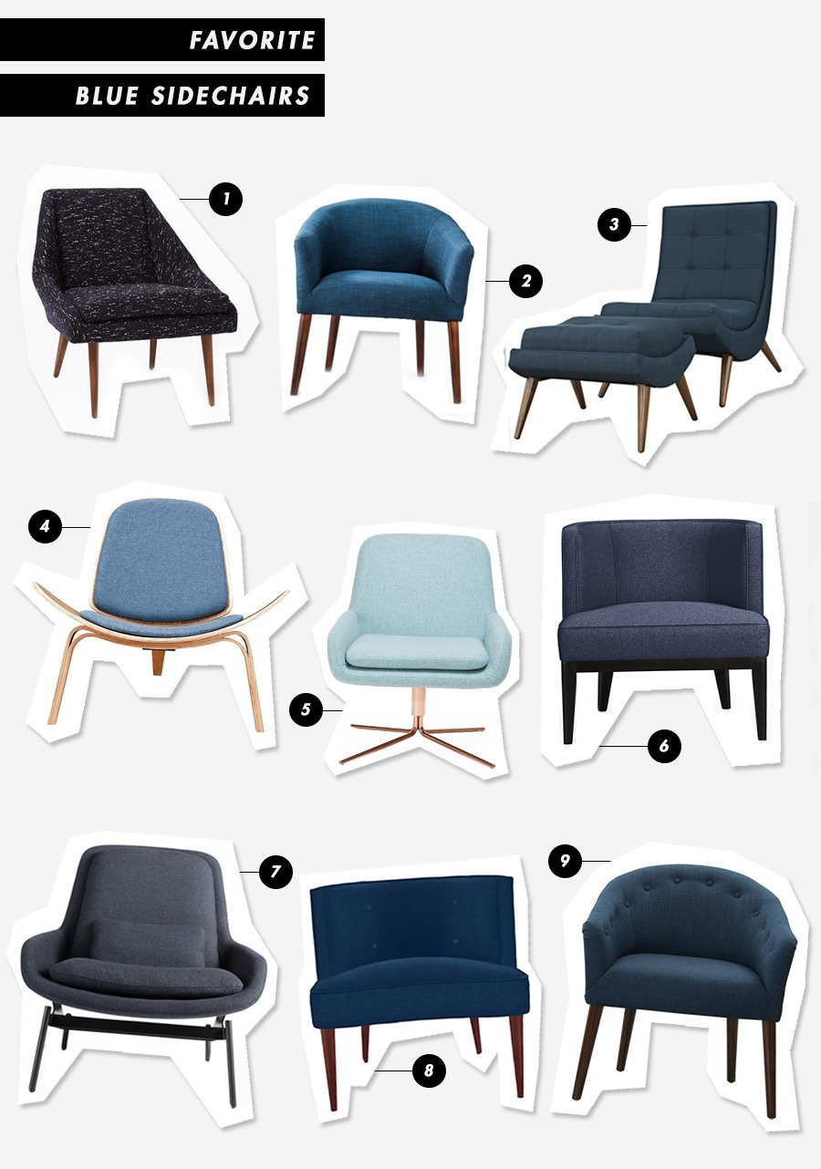 Blue Side Chair Roundup