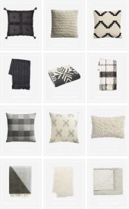 Neutral and Cozy : Pillows & Throws